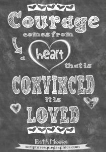 courage comes from a heart that is convinced it is loved beth moore