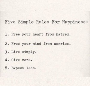 five simple rules to live by