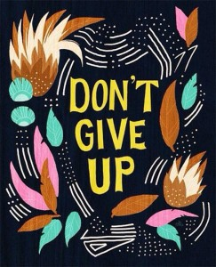 dont give up blog