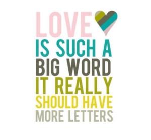 love is a big word