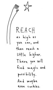 reach as high as you can