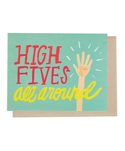 Hi fives all around