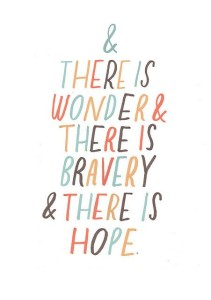 and there is wonder...