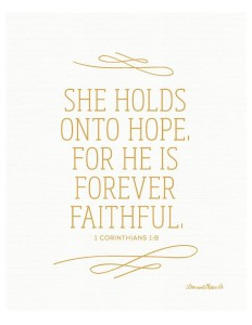 he is forever faithful