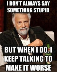 i don't always say stupid things...