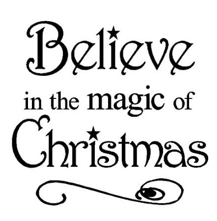 beleive in the magic of christmas