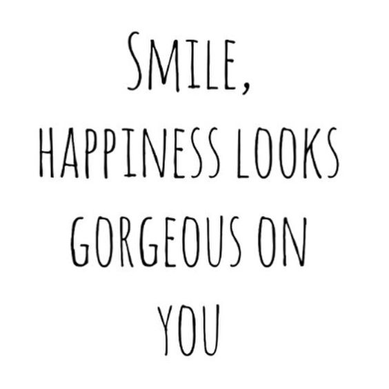 smile happiness looks gorgeous on you