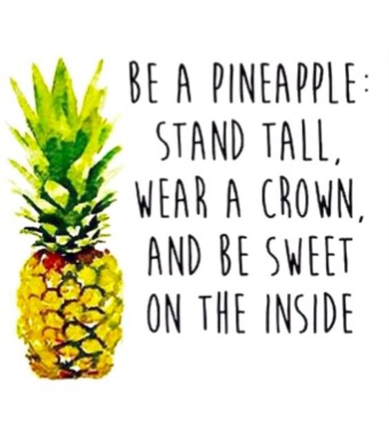 be a pinnaple