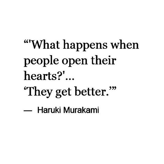 when people open their hearts