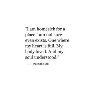 i am homesick